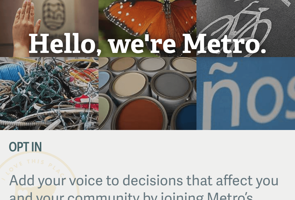 Elements of Metro website's home page